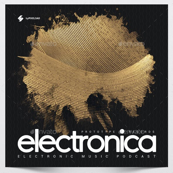 Electronica - Music Album Cover Artwork Template