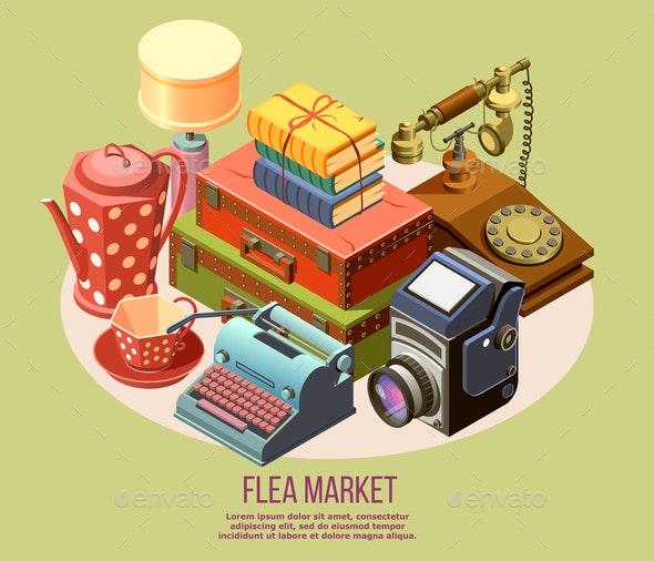 Flea Market Composition - Miscellaneous Vectors