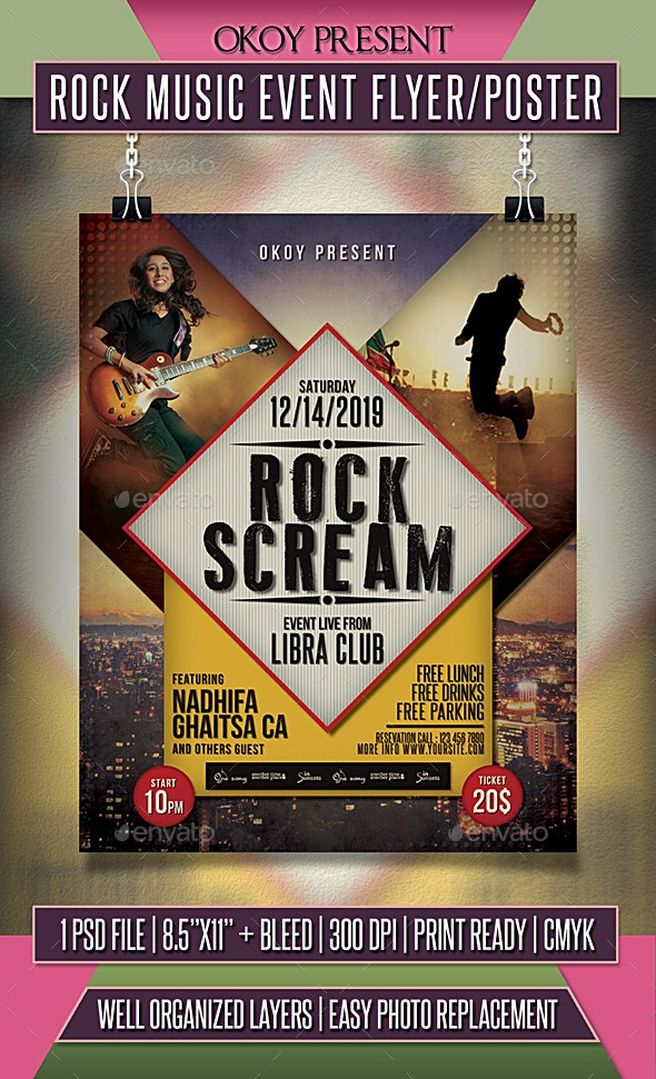 Rock Music Event Flyer / Poster - Events Flyers