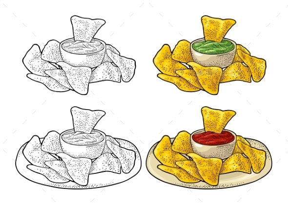 Nachos - Mexican Traditional Food - Food Objects