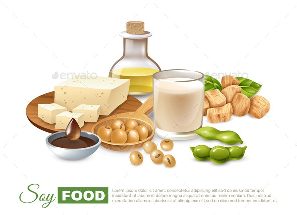 Soy Food Products Poster - Food Objects