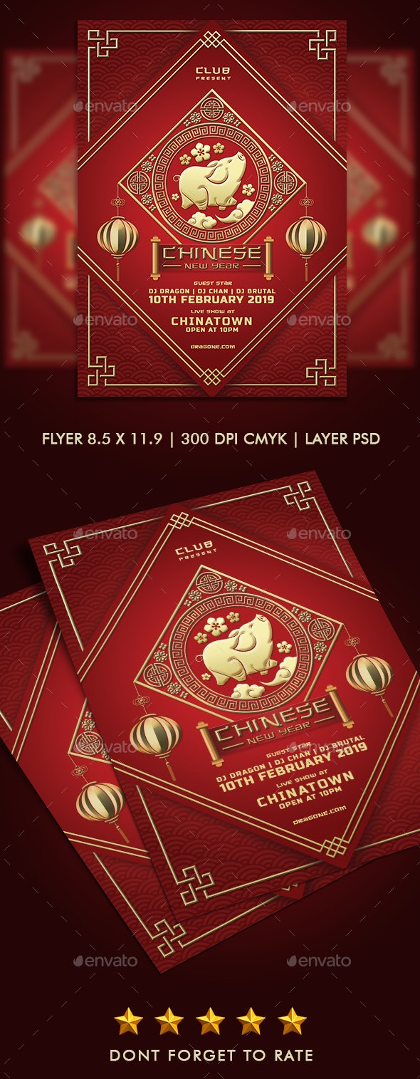 Chinese New Year Flyer Party - Clubs & Parties Events