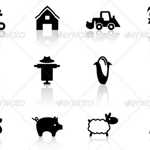 Farm Icons Set