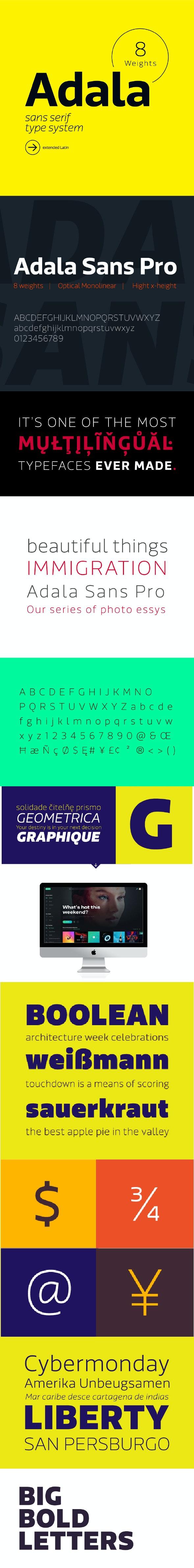 Adala Sans Pro Font - Miscellaneous Sans-Serif