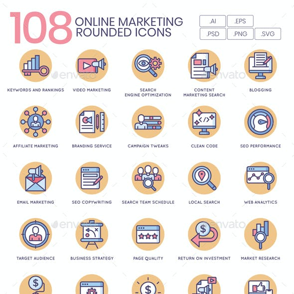 Online Marketing Icons - Butterscotch