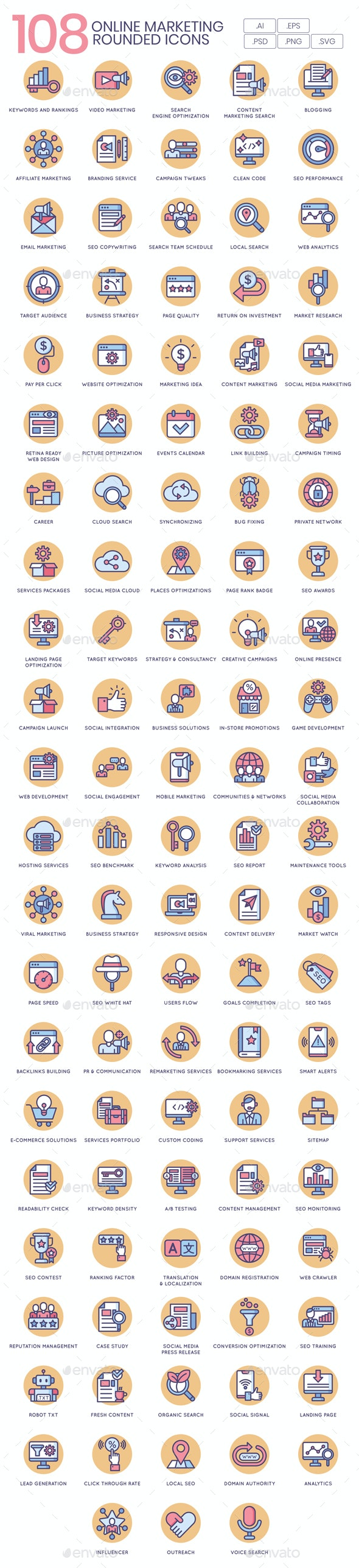 Online Marketing Icons - Butterscotch - Business Icons