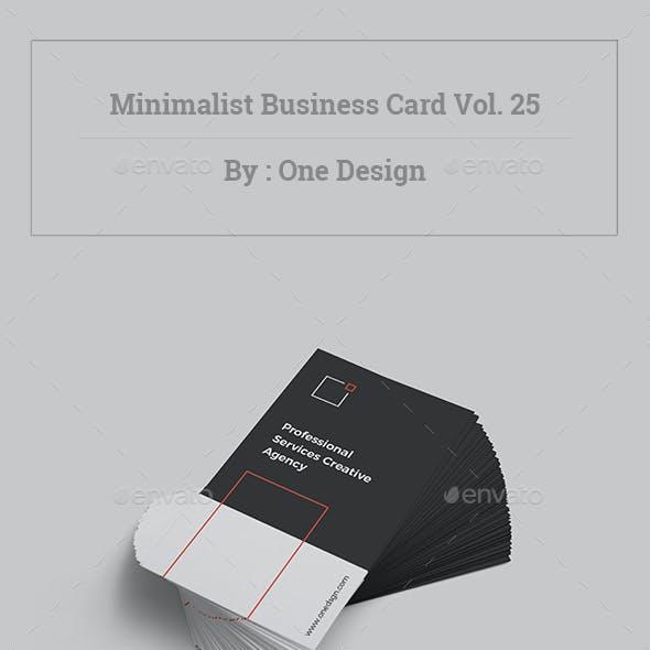 Minimalist Business Card Vol. 25