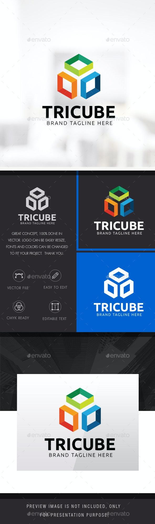 Three Cube Logo - Symbols Logo Templates