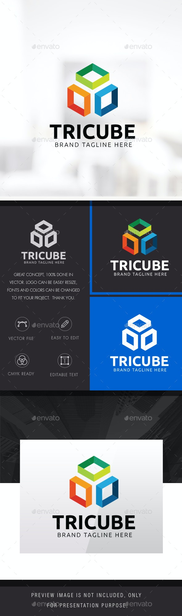 Three Cube Logo - Symbols Logo Templates