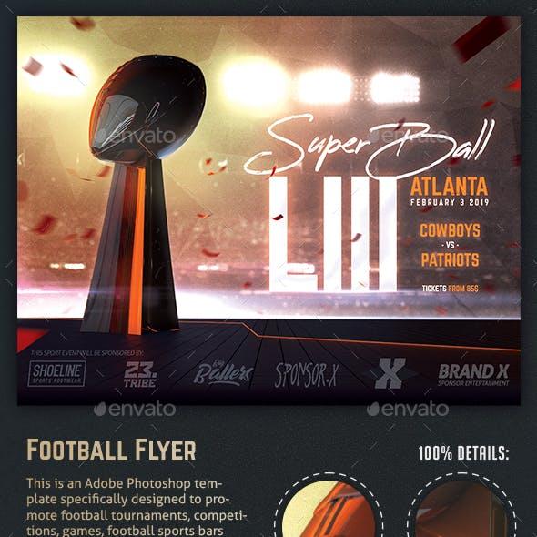 Football Super Ball Flyer American Football Poster Template