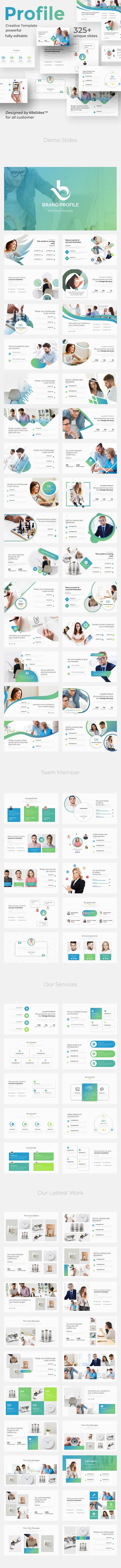 Brand Profile Pitch Deck Keynote Template - Business Keynote Templates