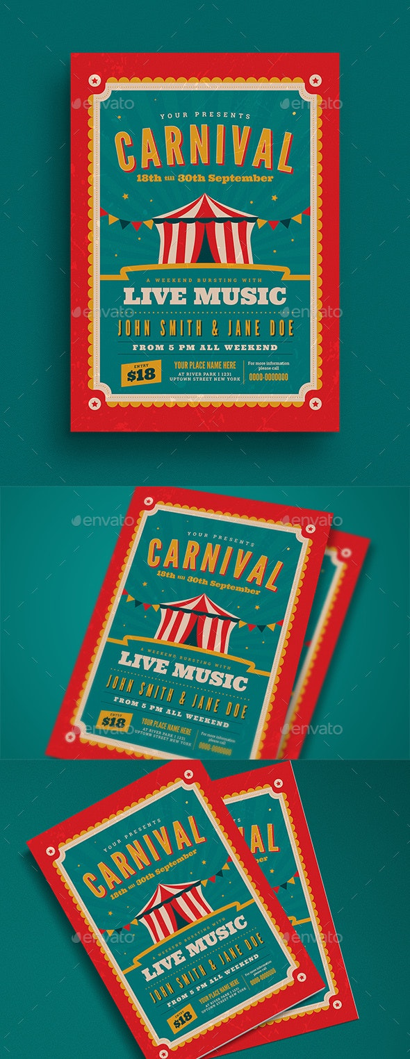 Retro Carnival Event Flyer - Events Flyers