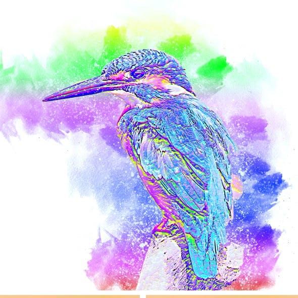 Watercolor Wash Photoshop Action vl 2