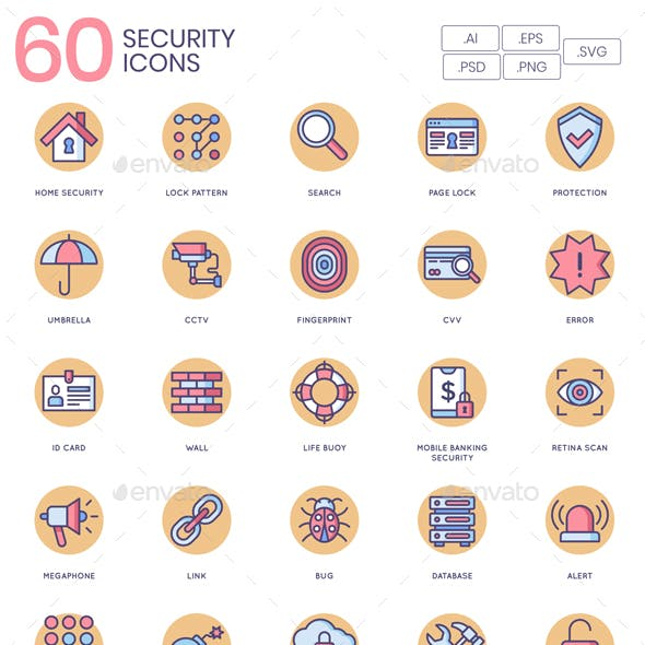 IT Security Icons - Butterscotch