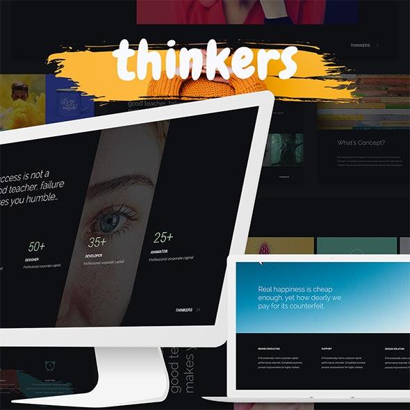 Thinkers - Creative & Multipurpose Template (Google) - Google Slides Presentation Templates