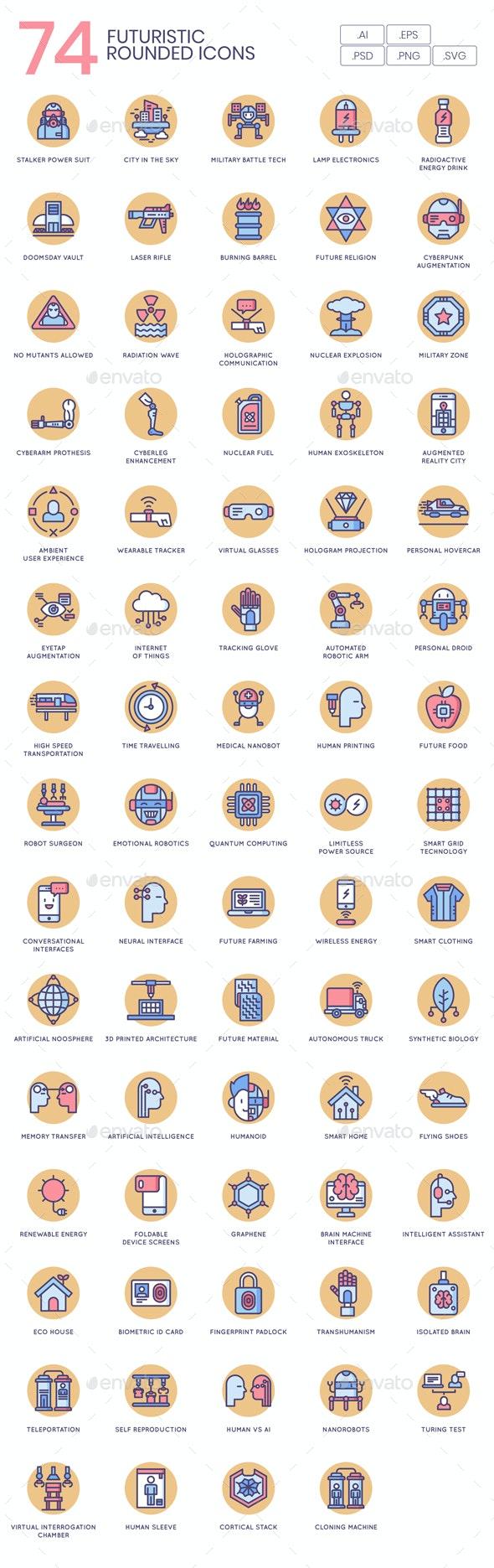 Future Technology Icons - Butterscotch - Technology Icons