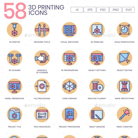 3D Printing Icons - Butterscotch