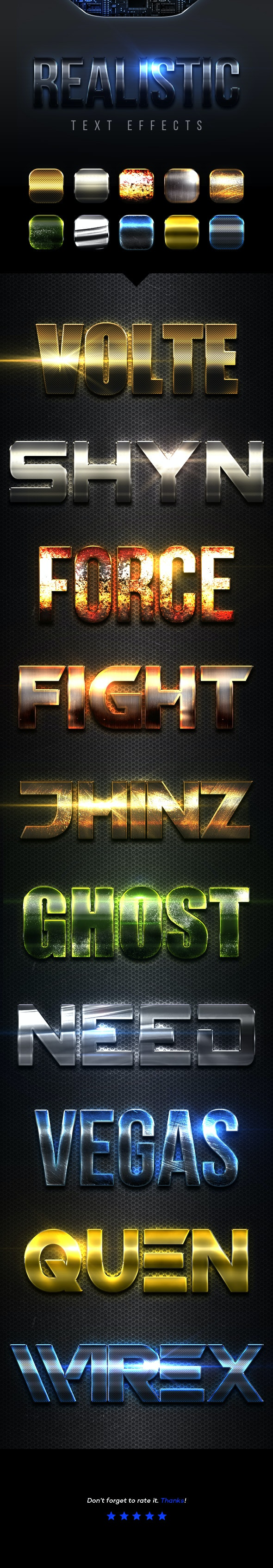 Realistic Text Effects Vol.9 - Text Effects Styles