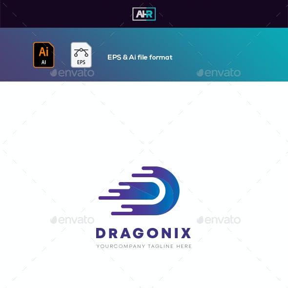 DRAGONIX D Letter Logo