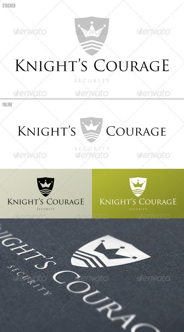 Knight's Courage Shield – Logo Template - Crests Logo Templates