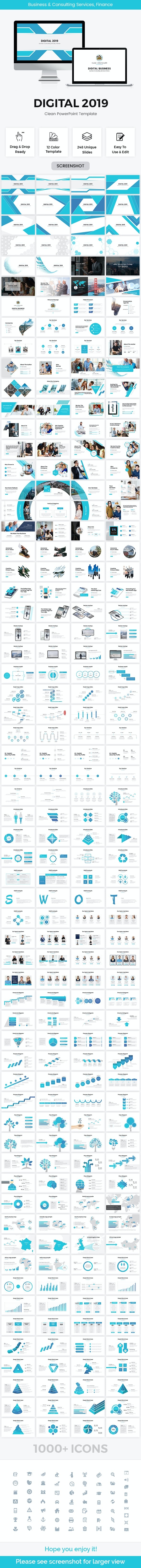 Digital Business Powerpoint Template 2019 - PowerPoint Templates Presentation Templates