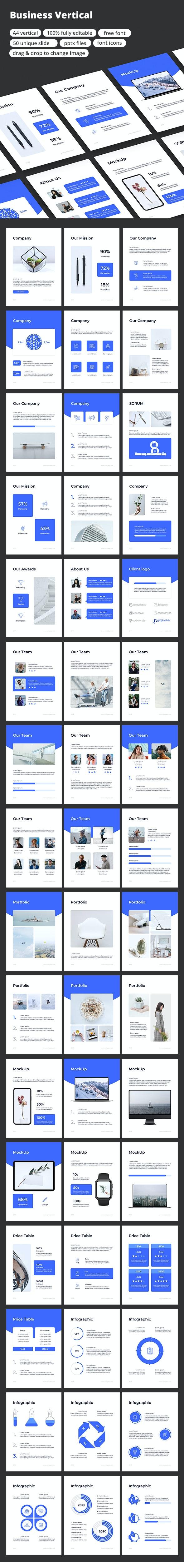 Business Vertical - PowerPoint Template - Business PowerPoint Templates