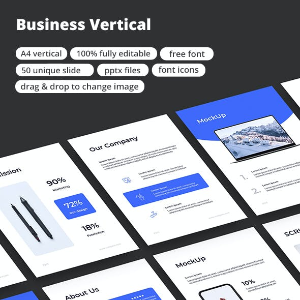 Business Vertical - PowerPoint Template