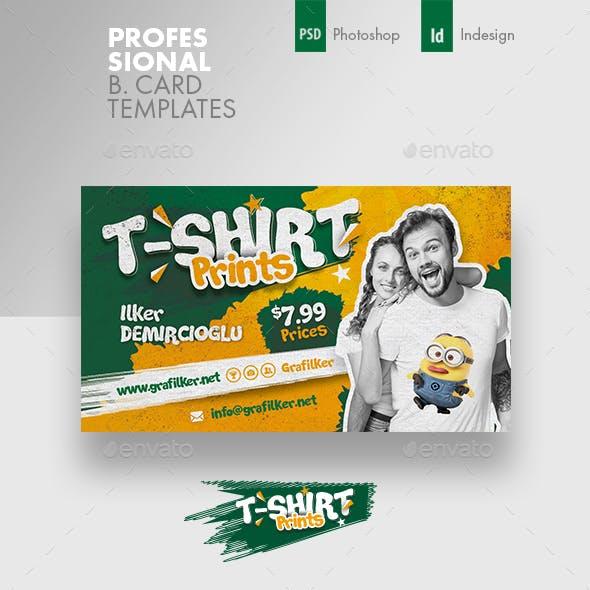 T-Shirt Print Business Card Templates