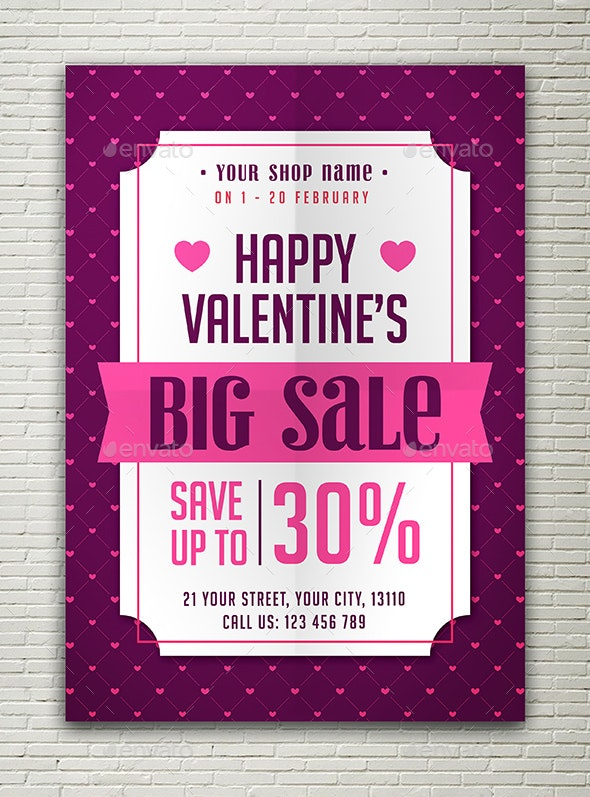 Valentines Sale Flyer - Events Flyers