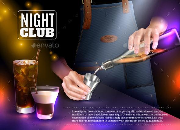 Bartender Realistic Illustration - Miscellaneous Vectors