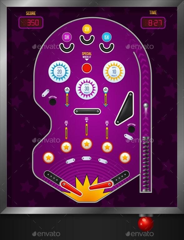 Violet Pinball Composition - Miscellaneous Vectors