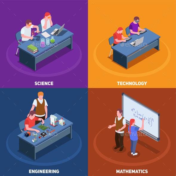 STEM Education Design Concept - Industries Business