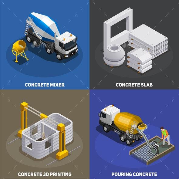 Concrete Production Design Concept - Industries Business