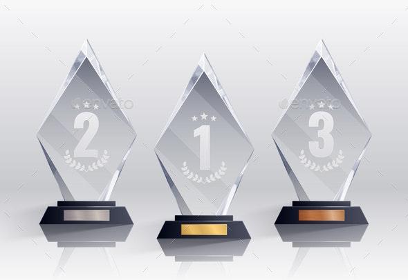 Competition Trophies Realistic Set - Sports/Activity Conceptual