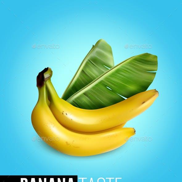 Banana Realistic Poster