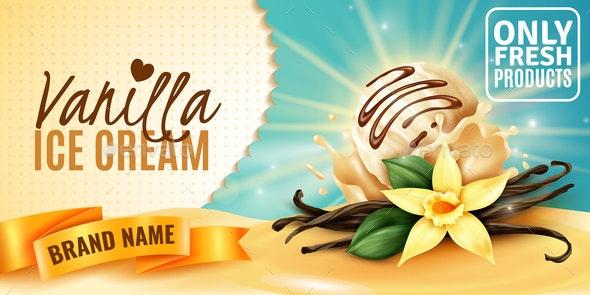 Vanilla Ice Cream Ad - Food Objects