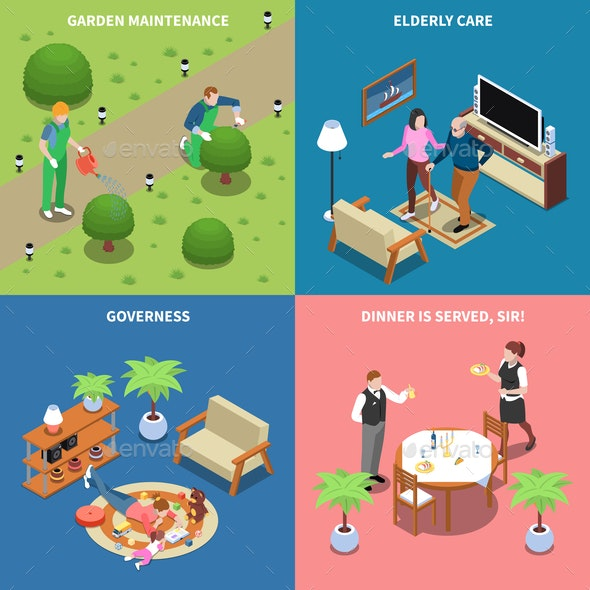 Home Workers Design Concept - Computers Technology