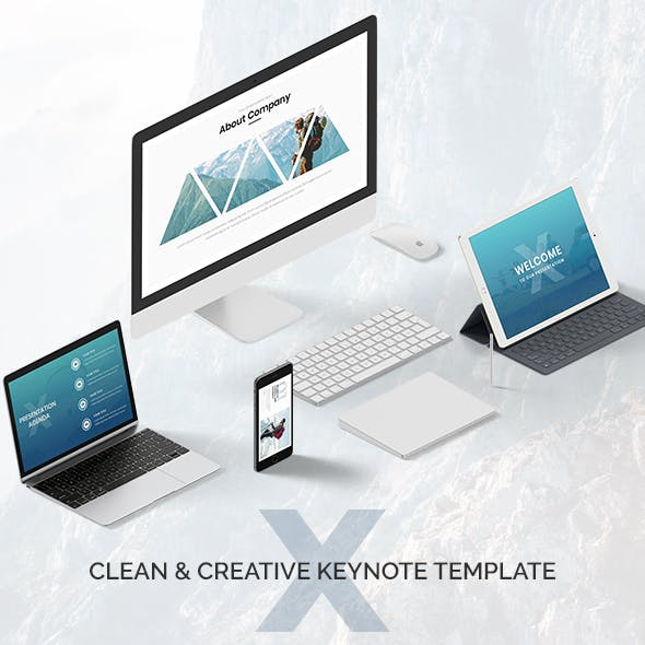 X - Clean & Creative Bundle Keynote Template