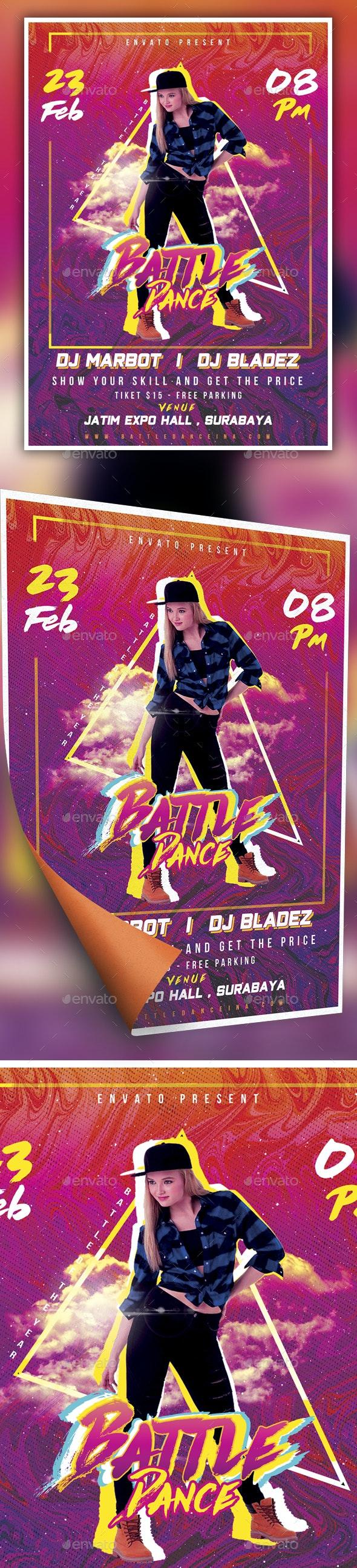 Battle Dance Purple Festival Flyer - Events Flyers