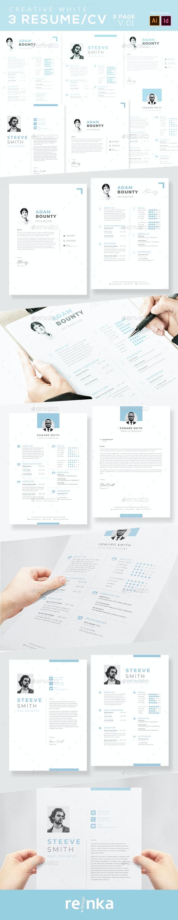 Resume CV - 02 Page v.01 - Resumes Stationery