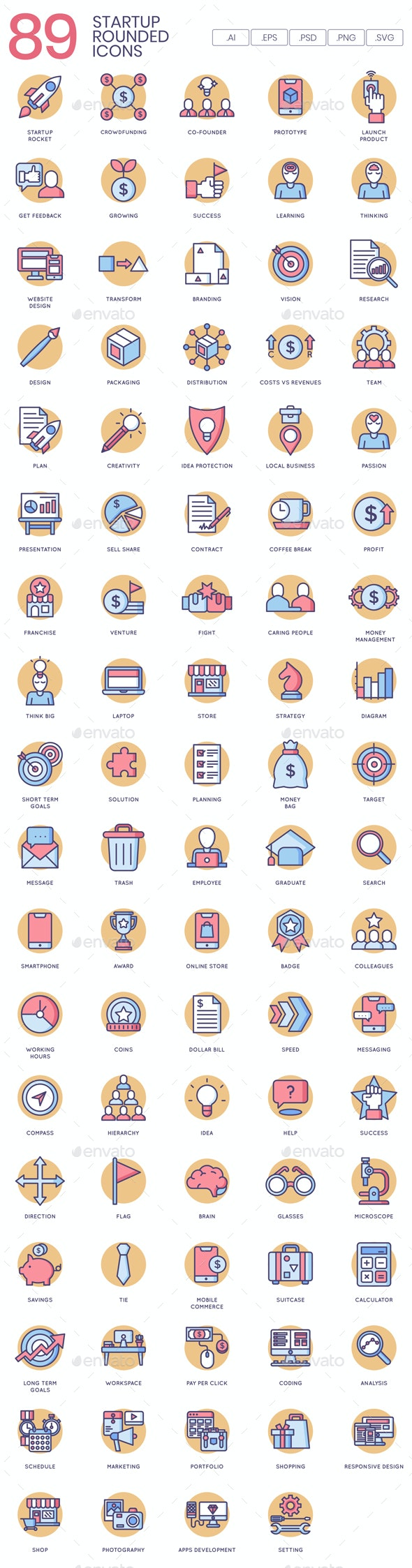 Startup Icons - Business Icons