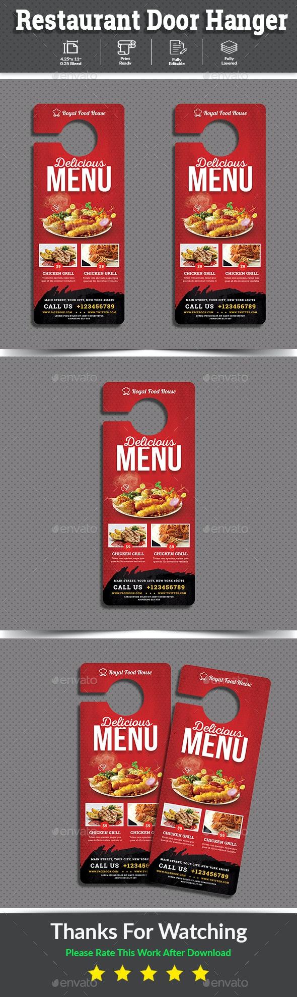 Restaurant Door Hanger - Miscellaneous Events