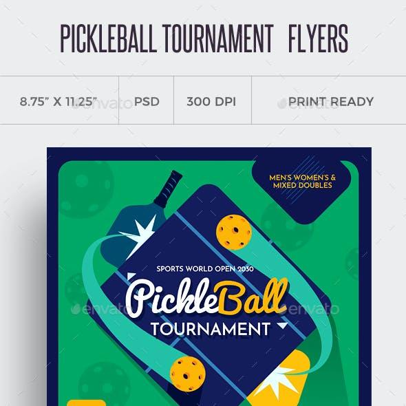Pickleball Flyer Templates