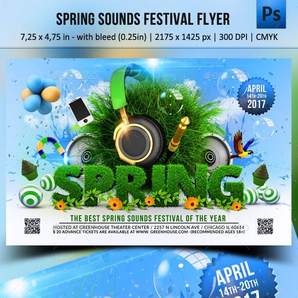 Spring Sounds Festival Flyer