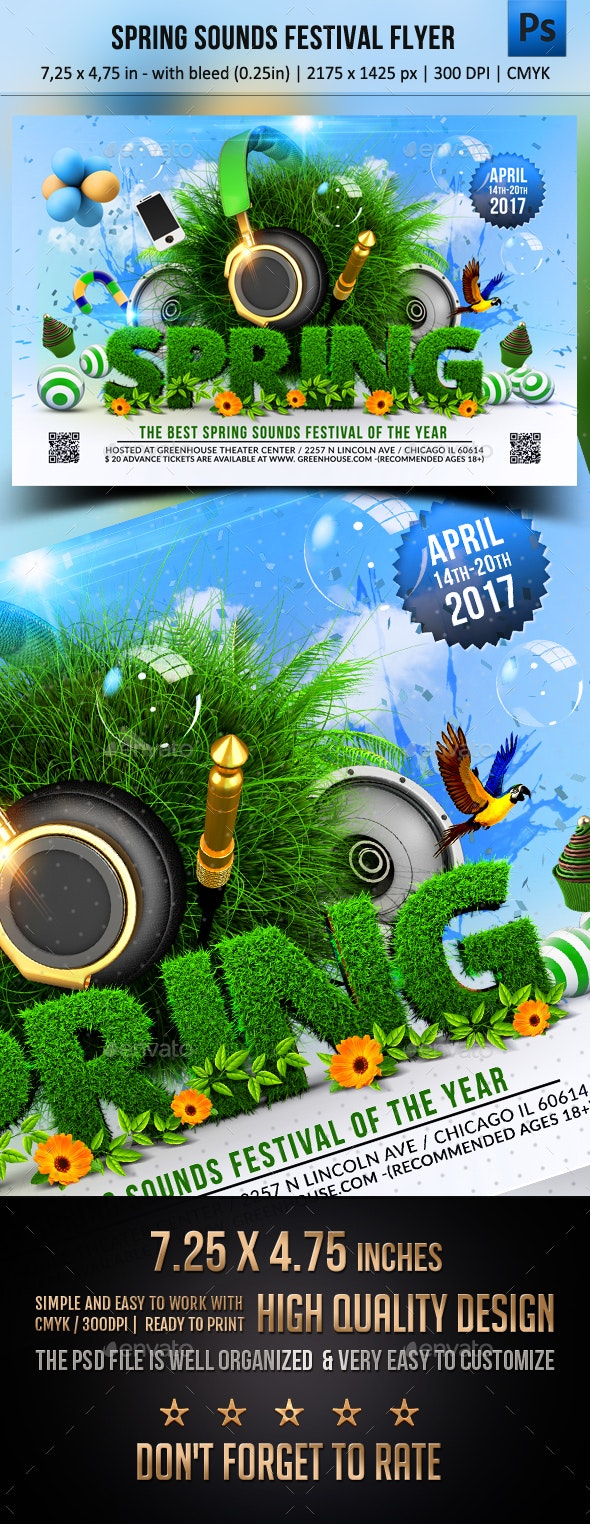 Spring Sounds Festival Flyer - Events Flyers
