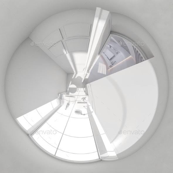 360 Render Panorama Interior Design Living Room - Architecture 3D Renders