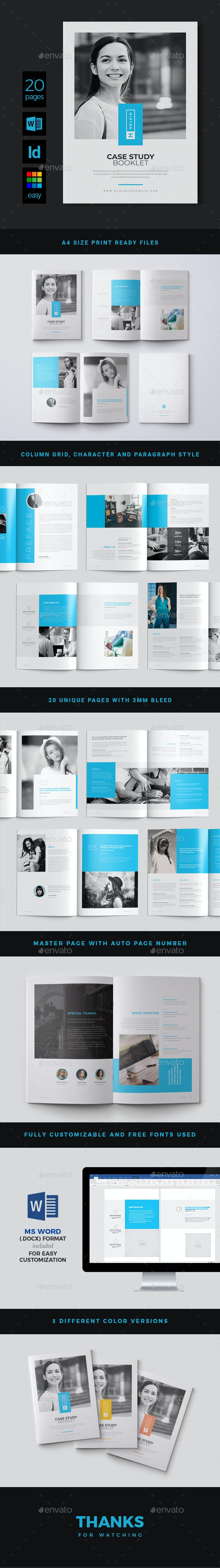 Case Study Booklet - Brochures Print Templates