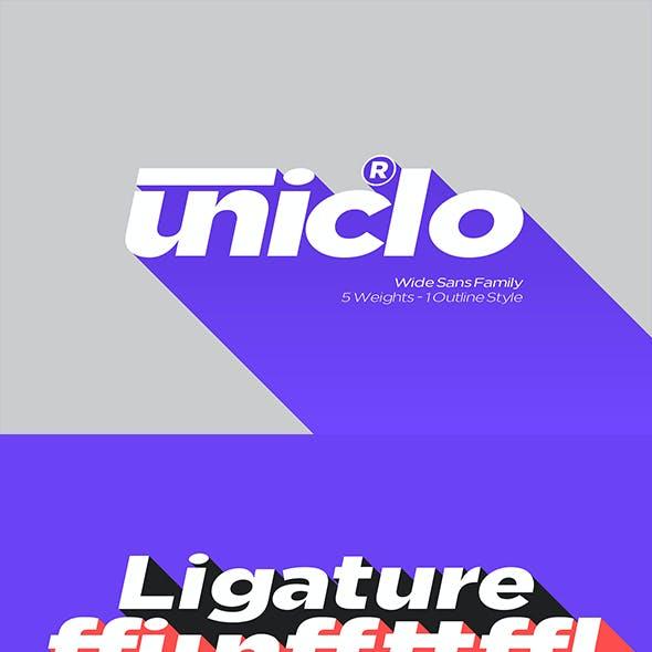 Uniclo Wide Sans Family Font