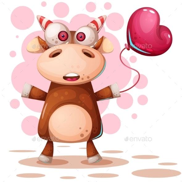 Cartoon Deer Cow Characters - Animals Characters
