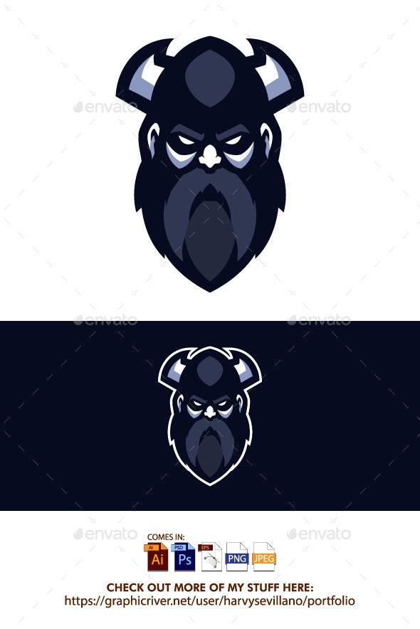Viking Head Vector - People Characters